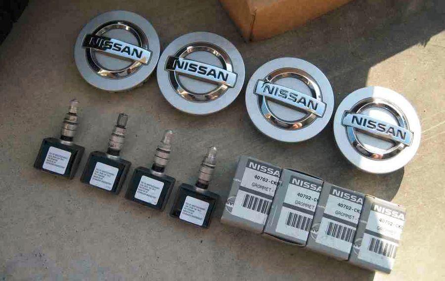 nissan горит лампа датчика давления в шинах